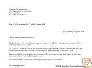 WOB verzoek en fax 27 juli 2013 inzake BKR