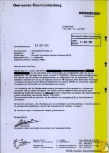 Verzoek toezenden dossiers bezwaarschrift 24-09-2013